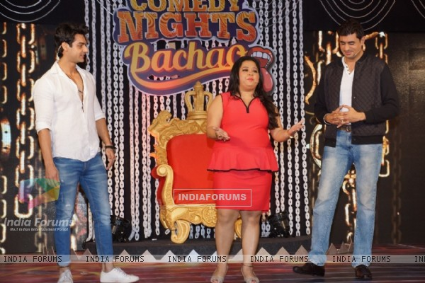 Karan Wahi, Bharti Singh and Pritam at Launch of 'Comedy Nights Bachao'