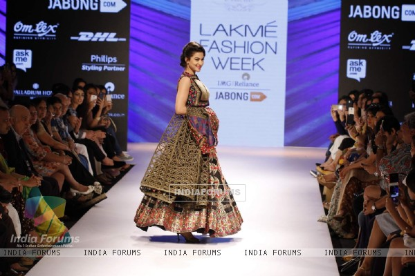 Gauahar Khan at Lakme Fashion Week