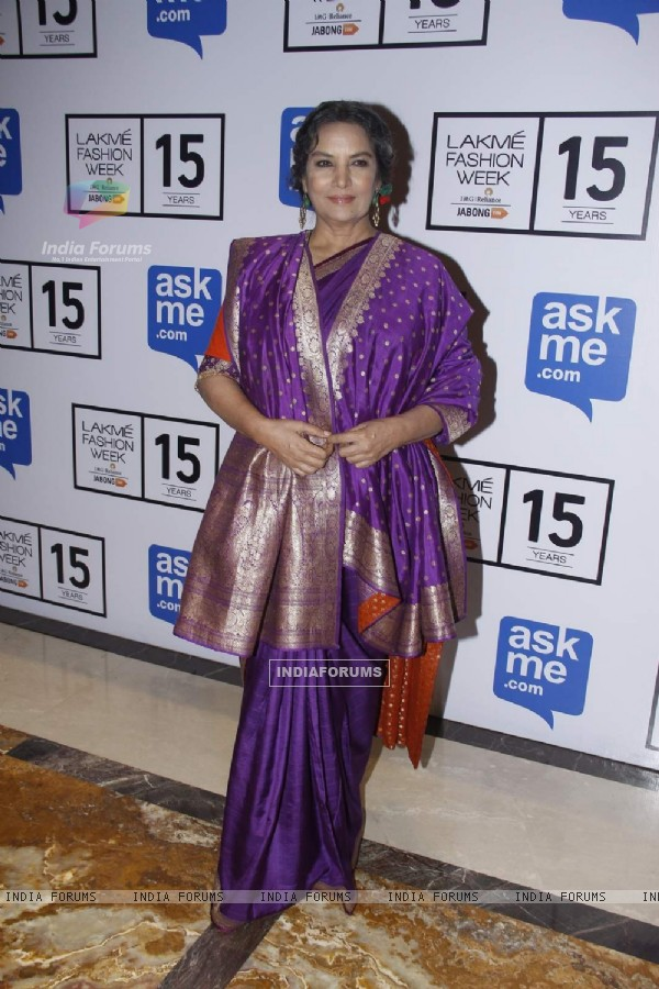 Shabana Azmi at Lakme Fashion Week