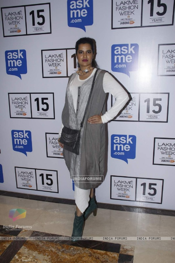 Sona Mohapatra at Lakme Fashion Week