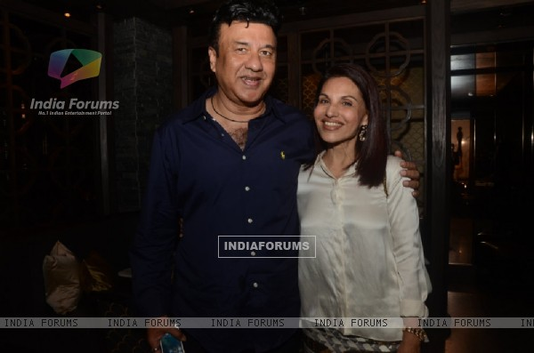Anu Malik poses with Poonam Soni at the Sneak Preview for Festive Jewels