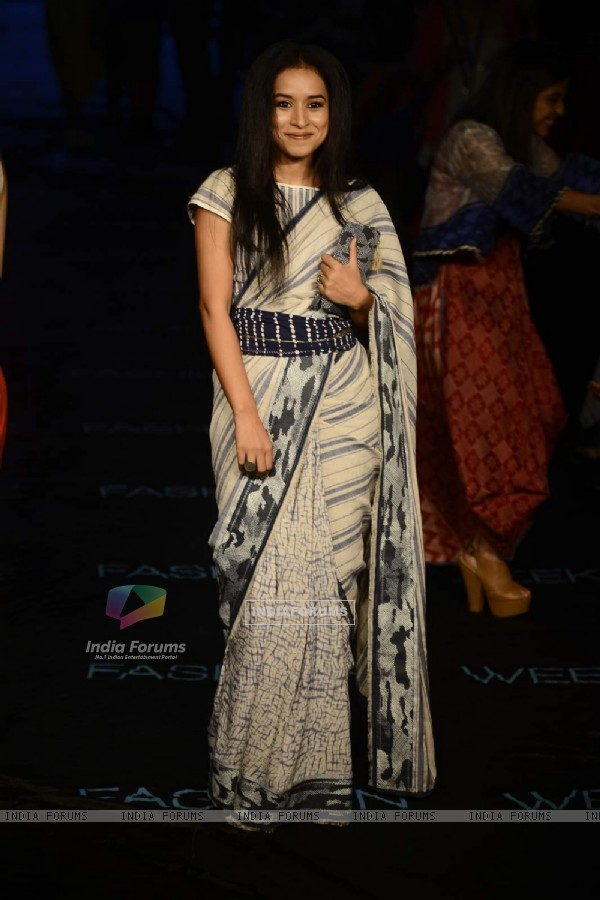 Tillotama Shome walks the ramp at Lakme Fashion Week Day 4