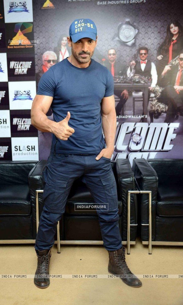John Abraham for Promotions of Welcome Back at Delhi