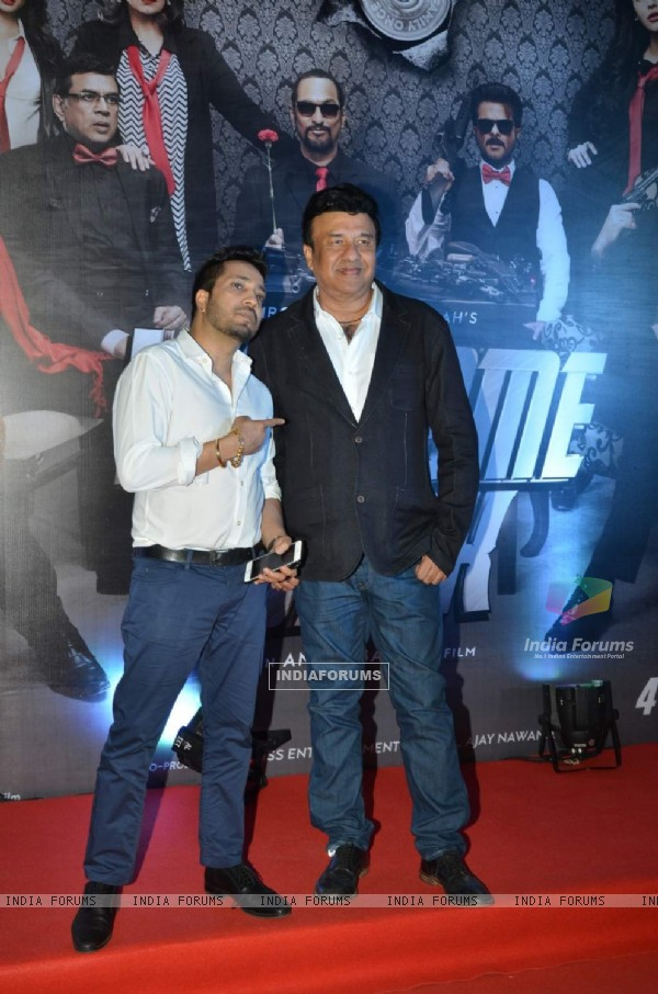 Mika Singh and Anu Malik at Premiere of Welcome Back