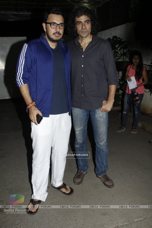 Dinesh Vijan and Imtiaz Ali at Screening of Bengali Film 'Teenkahon'