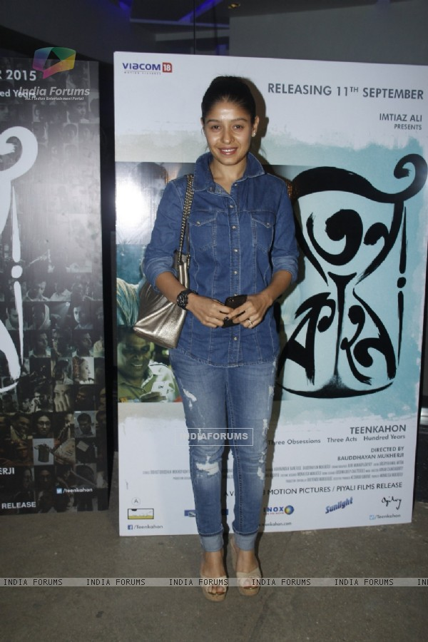 Sunidhi Chauhan at Screening of Bengali Film 'Teenkahon'