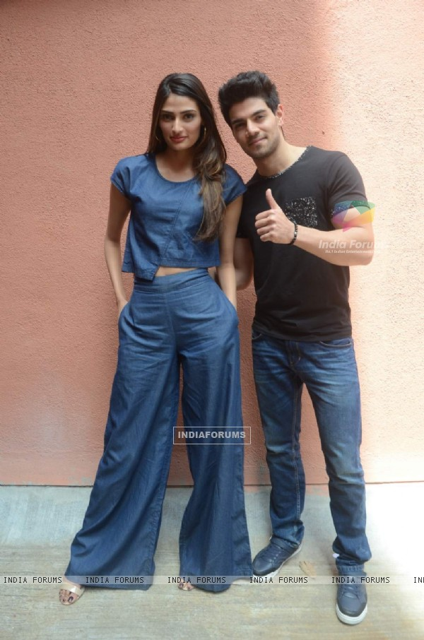 Sooraj and Athiya for Promotions of Hero at Sophia College