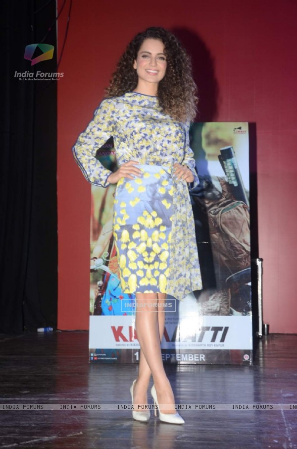 Kangana Ranaut for Promotions of Katti Batti at Sophia College