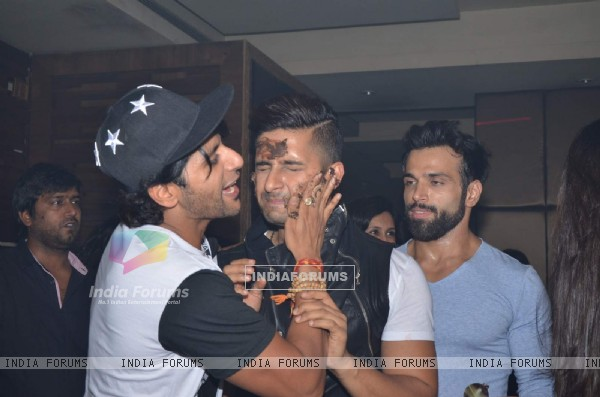 Karavir Bohra and Ravi Dubey at Sargun Mehta's Birthday Bash