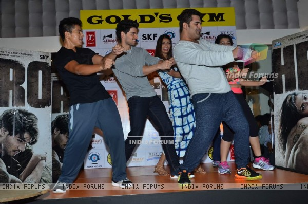 Sooraj Pancholi and Athiya Shetty for Promotions of Hero at Gold's Gym