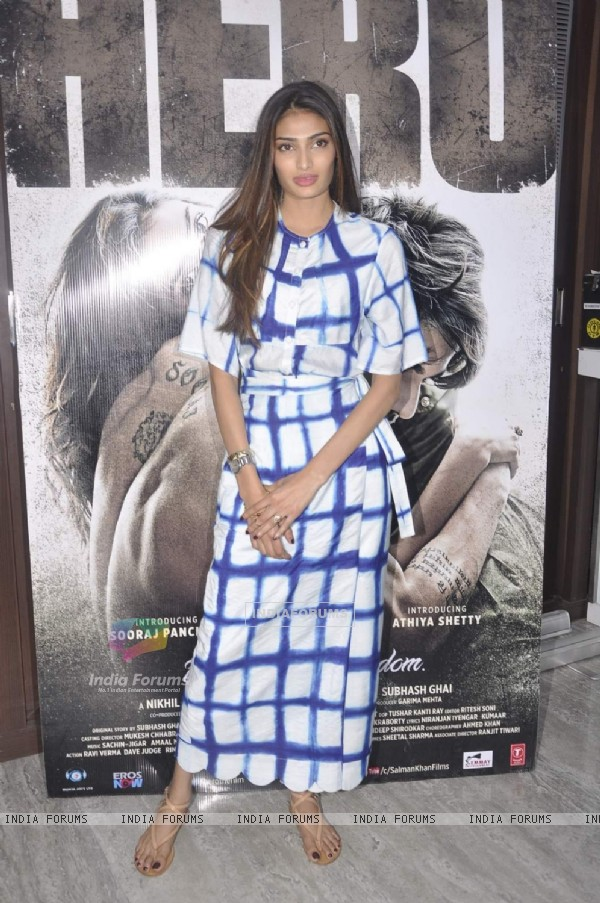 Athiya Shetty for Promotions of Hero at Gold's Gym