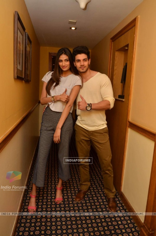 Sorraj Pancholi and Athiya Shetty for Promotions of Hero