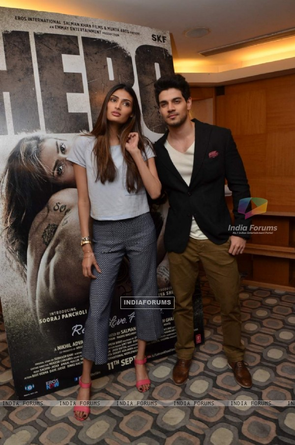 Sorraj Pancholi and Athiya Shetty Promotes Hero