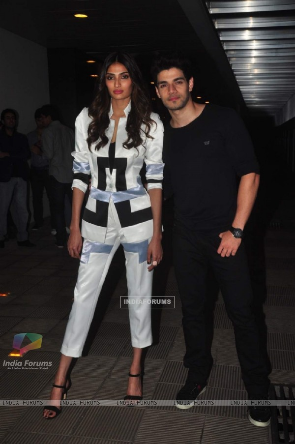 Sooraj Pancholi and Athiya Shetty Promotes Hero