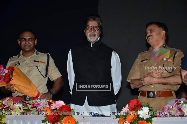 Big B at Road Traffic Awareness Event