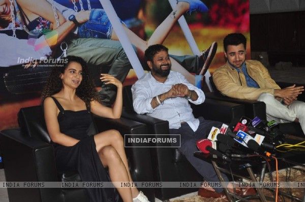 Kangana Ranaut, Nikhil Advani and Imran Khan for Promotions of Katti Batti
