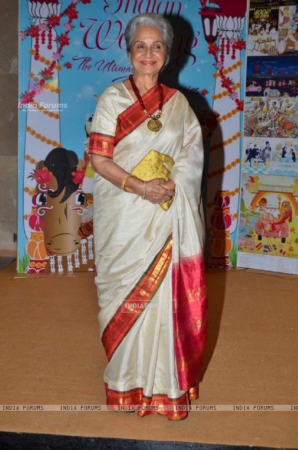 Waheeda Rehman at the Launch of Sakshi Salve's Book 'The Big Indian Wedding'
