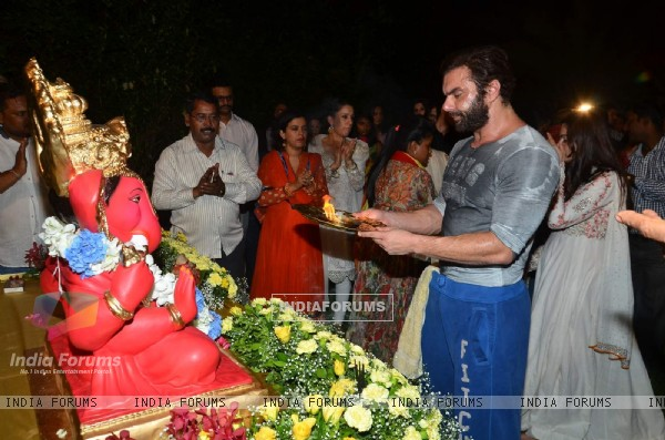 Sohail Khan During His Ganesh Visarjan Procession