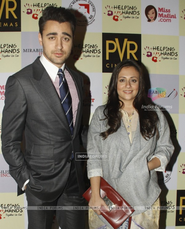 Imran Khan poses with wife Avantika at the Special Screening of Katti Batti for NGO Kids