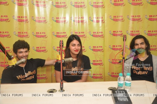Karan V Grover, Anushka Ranjan and Diganth Manchale for Promotions of Wedding Pullav at Radio Mirchi