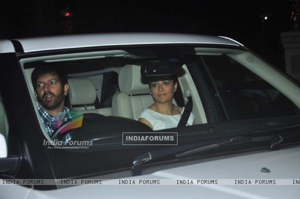 Kabir Khan and Mini Mathur at Special Screening of Kis Kisko Pyaar Karoon