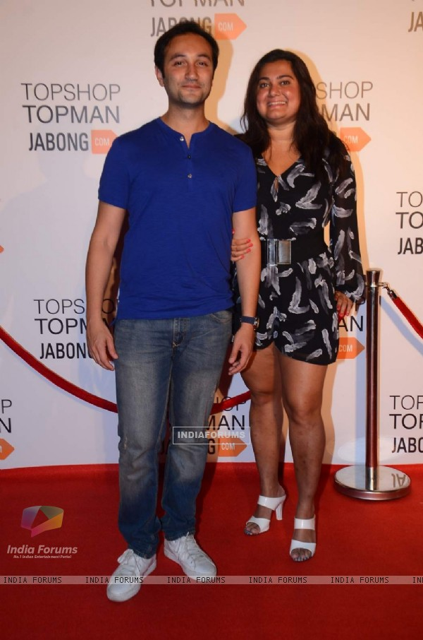 Aditya Hatkari and Divya Palat at the Launch Of Topshop & Topman