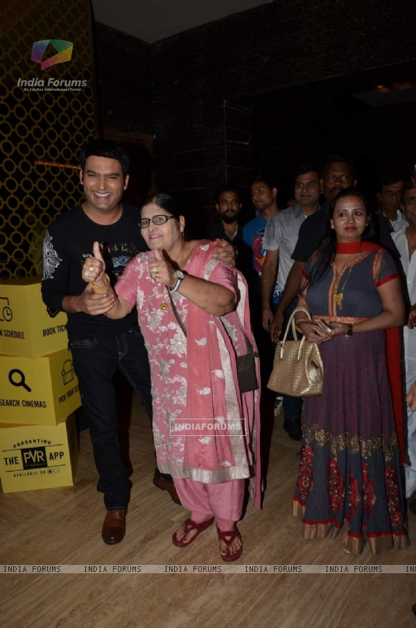 Kapil Sharma at Screening of Kis Kisko Pyaar Karoon