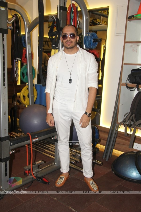 Ali Quli Mirza poses for the media at the Launch of Muscle Talk Gymnasium