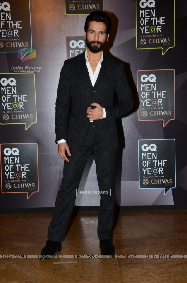 Shahid Kapoor at the GQ India Men of the Year Awards 2015