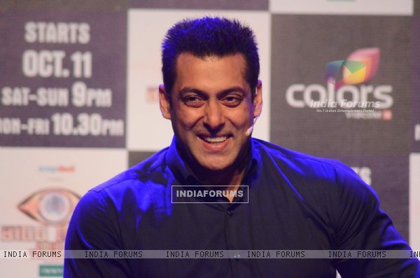 Salman Khan addresses the media at the Launch at Bigg Boss Nau