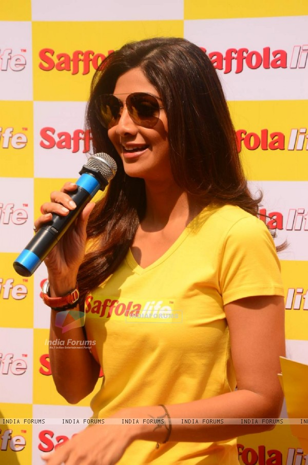 Shilpa Shetty addresses the World Heart Day Celebration