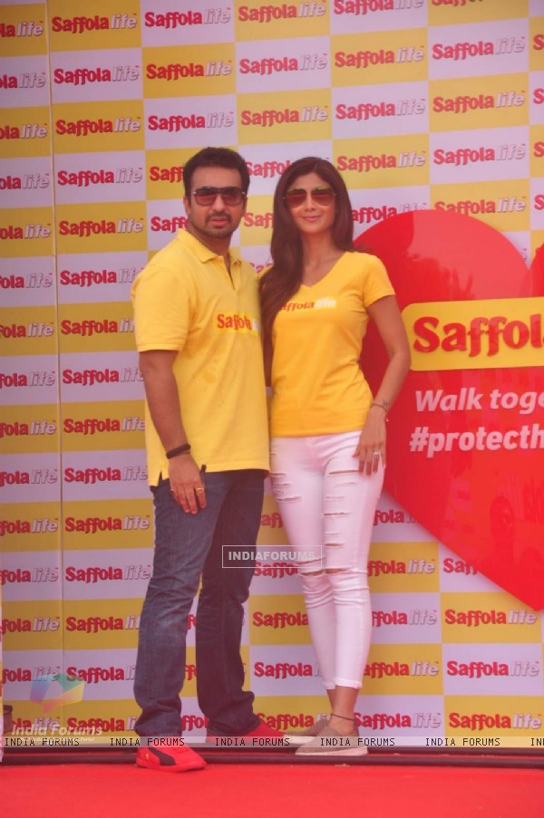 Shilpa Shetty and Raj Kundra at the World Heart Day Celebration