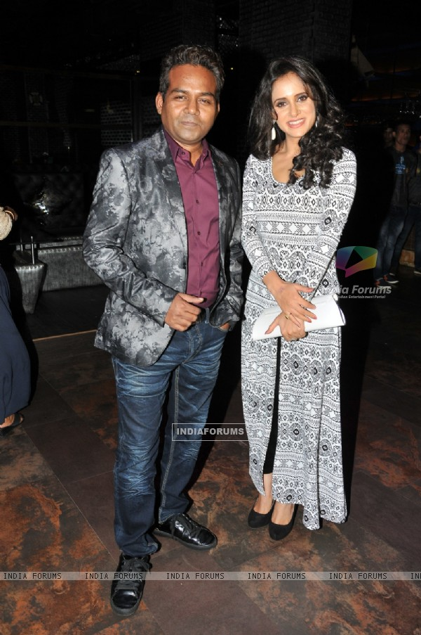 Girish Wankhede with Shweta Khanduri at the Birthday Bash