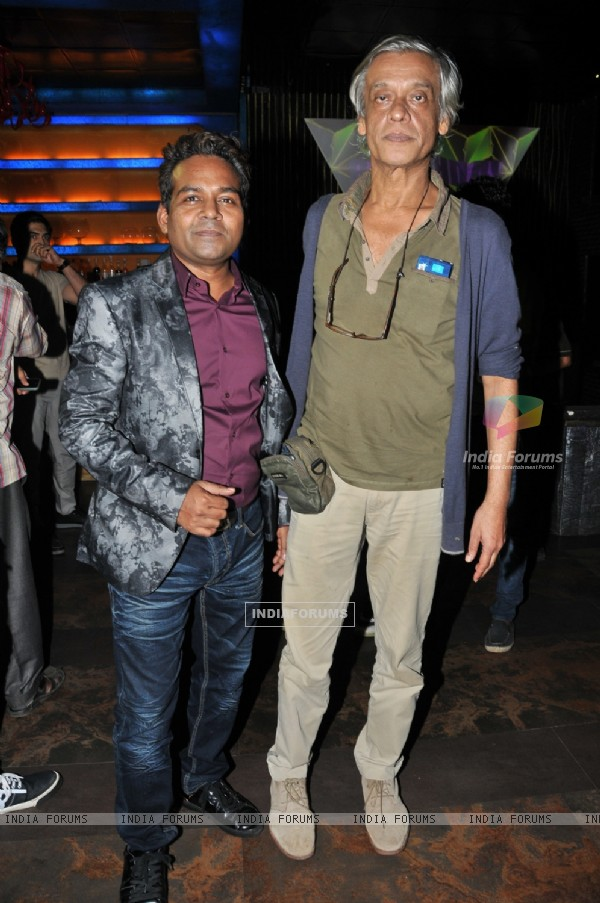 Girish Wankhede with Sudhir Mishra at the Birthday Bash