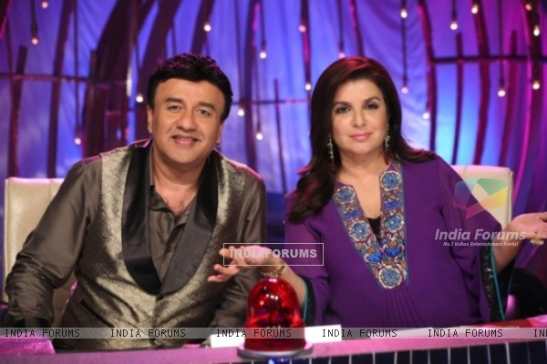Farah Khan and Anu Malik