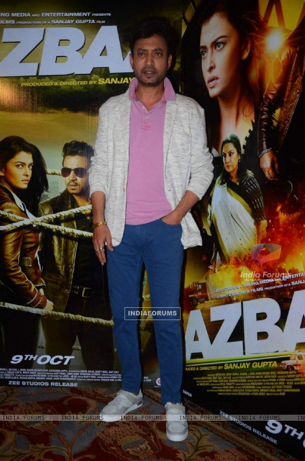 Irrfan Khan at Press Meet of Jazbaaa