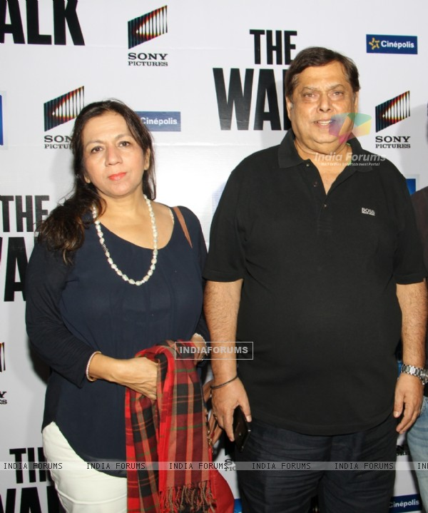 David Dhawan with His Wife at Special Screening of 'The Walk'