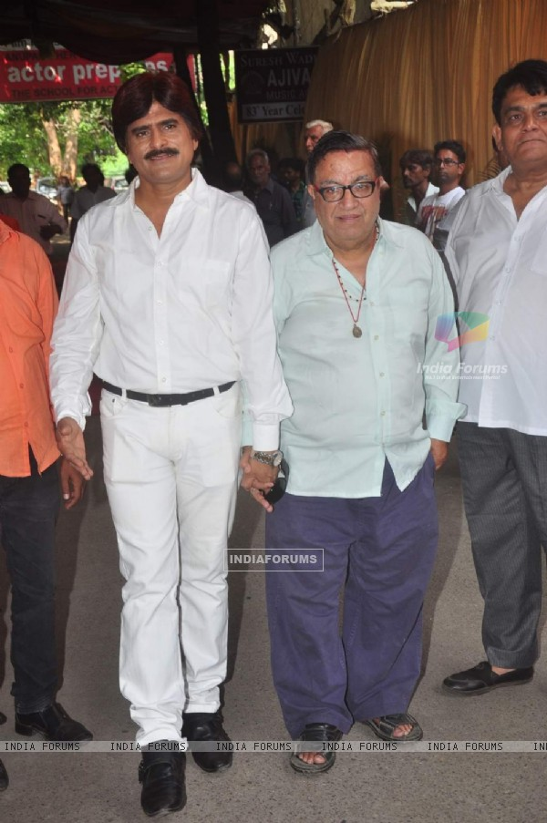 Ahsaan Qureshi at Prayer Meet of Ravindra Jain