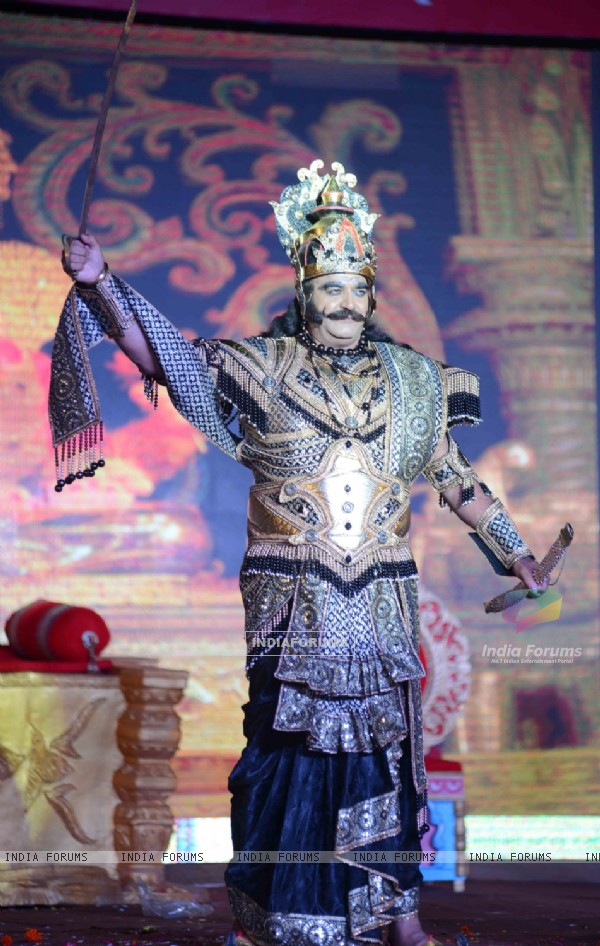 Surendra Pal as Raavan at Luv Kush - Ram Leela Dress Rehearsal