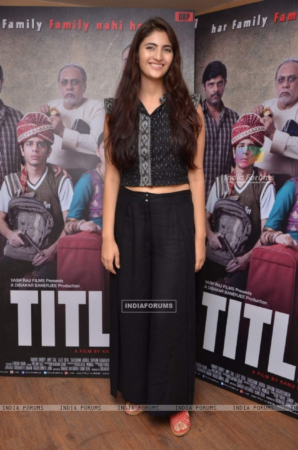 Shivani Raghuvanshi poses for the media at the Press Meet of Titli