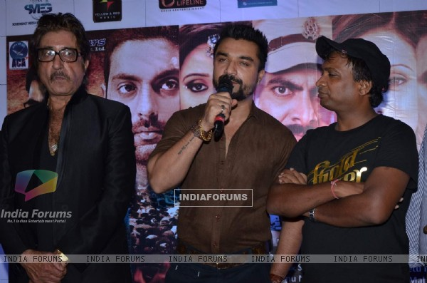 Ajaz Khan interacts with the audience at the Launch of 'Jaatiwad' Film
