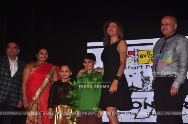 Sushmita Sen With Students at a School Event