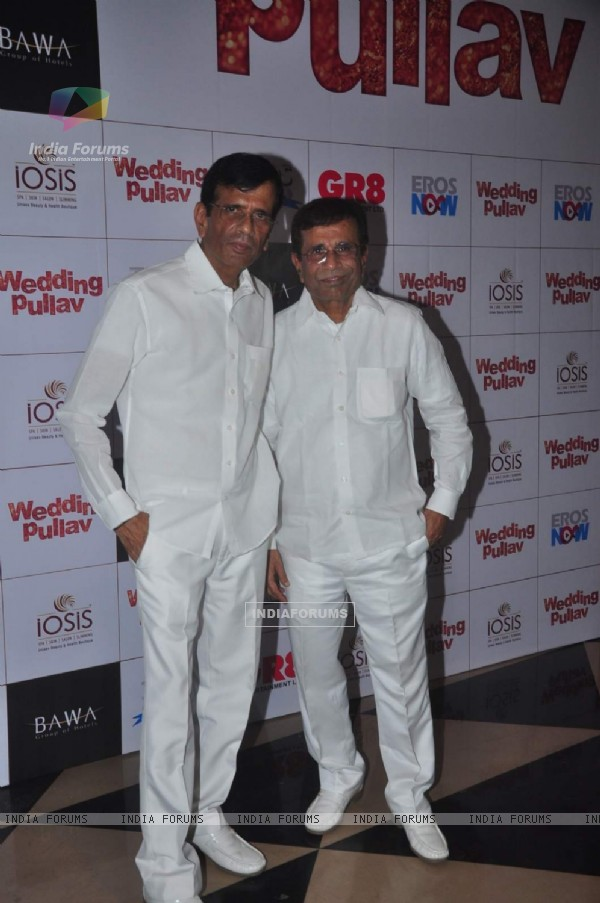Abbas and Mustan Burmawalla at the Premier of Wedding Pullav