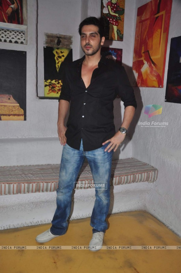 Zayed Khan at Rouble Nagi's Art Exhibition