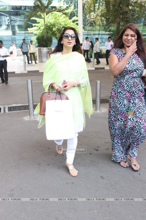 Juhi Chawla Snapped at Airport