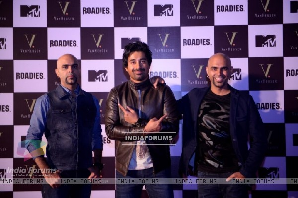 Raghu Ram and Rajiv Ram With Rannvijay Singh at Launch of Roadies Inspired Fashion Collection