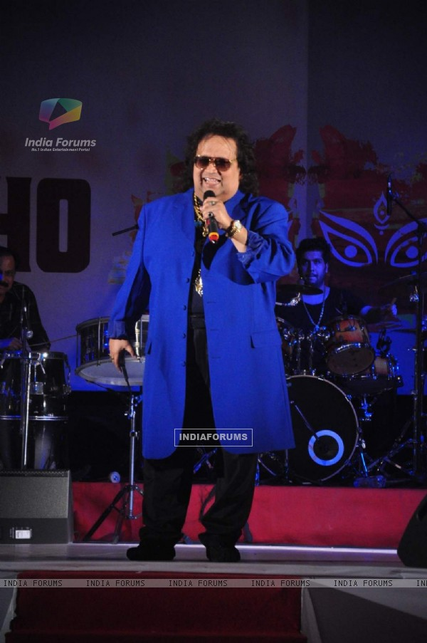Bappi Lahiri at Durga Pooja of North Bombay Sarbojanin Durga Puja Charitable Trust