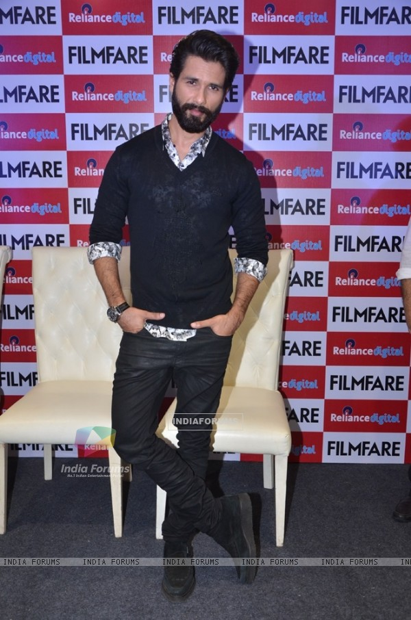 Shahid Kapoor at Launch of Filmfare Magazine Cover
