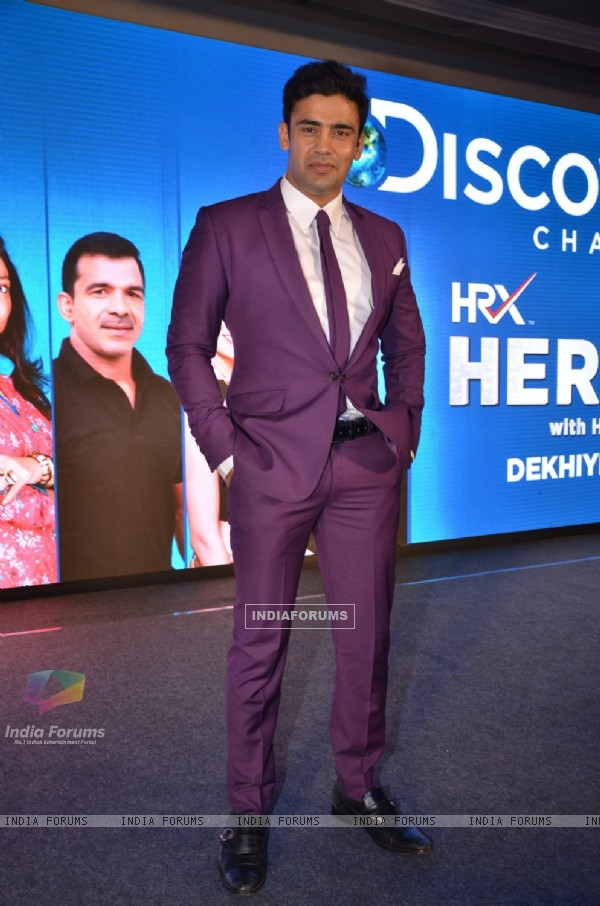Sangram Singh at Launch of Discovery's New Show 'HRX Heroes'