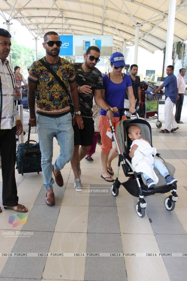 Shikhar Dhawan Snapped at Airport